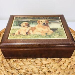 Vintage, wooden memory box, cover art Cindy C. Alv